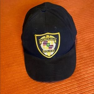 Honolulu Hawaii Police Baseball Cap Black NWOT